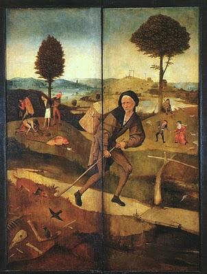 Madrid, Musée du Prado, Le Voyageur par Jérôme Bosch (c) source inconnue