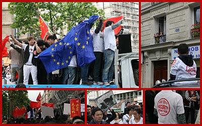 Paris, Belleville, Manifestation pour la sécurité (c) Yves Traynard 2010
