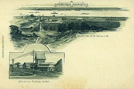 Maputo 1890, carte postale, le port au loin Catembe
