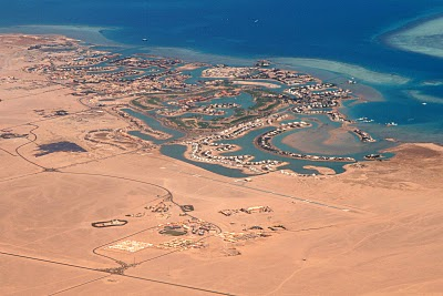 Hurghada, vue aérienne (c) Yves Traynard 2008