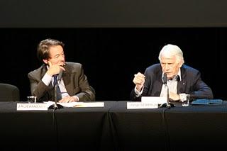 Paris, Auditorium BNF, Jean-Noël Jeanneney et Jorge Semprun (c) Yves Traynard 2007