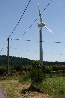 Montregard, première éolienne (c) Yves Traynard 2008