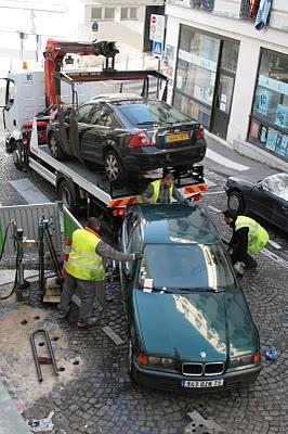 Paris, Belleville, Installation d'un parking à vélo (c) Yves Traynard 2007