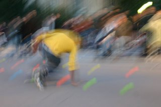 Paris, Notre-Dame, roller - (c) Yves TRAYNARD 2005