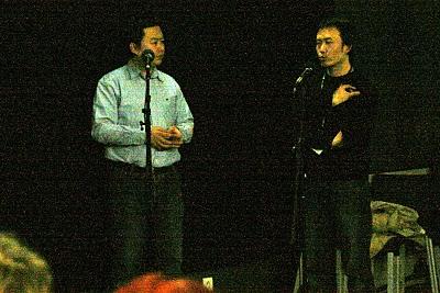 Paris, Festival Cinéma du Réel Les réalisateurs Cheng Xiaoxing et Du Haibin (c) Yves Traynard 2008