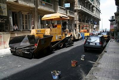 Alexandrie, Réfection des rues (c) Yves Traynard 2008