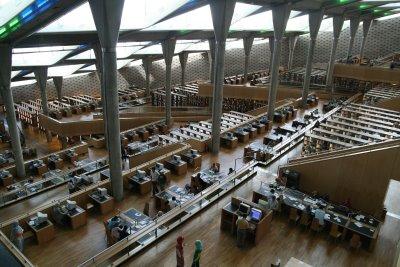 Alexandrie, L'intérieur de la Bibliothèque (c) Yves Traynard 2008