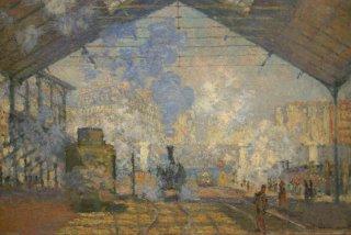 La Gare Saint-Lazare, Monet, musée d'Orsay (c) Yves Traynard 2005