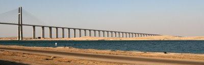 Al-Qantara, Le pont sur le canal de Suez (c) Yves Traynard 2008