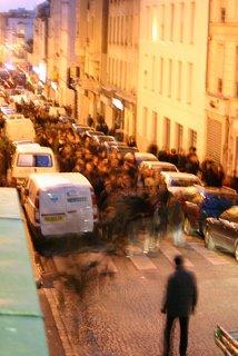 Paris, rue Ramponeau, manifestants anti-CPE (c) Yves Traynard 2006