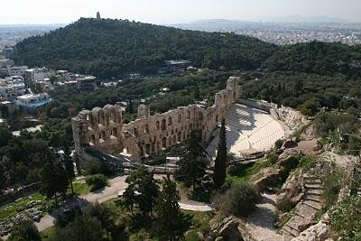 Athènes, Acropole, Théâtre romain (c) Yves Traynard 2007