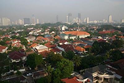 Jakarta, vue sur le golden triangle (c) Yves Traynard 2007