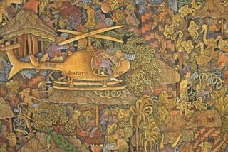 Ubud, Musée Puri Lukisan - Polarization (1991) par I Wayan Bendi (c) Yves Traynard 2007