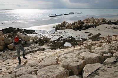 Kuta, Amémagement d'une plage (c) Yves Traynard 2007
