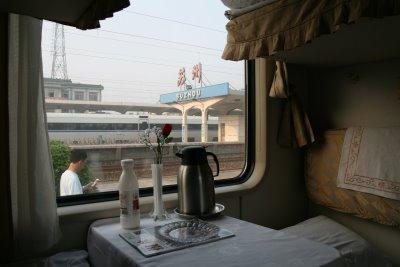 Pékin-Suzhou, en train (c) Yves Traynard 2009