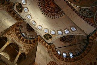 Istanbul, mosquée Süleymaniye, intérieur (c) Yves Traynard 2006