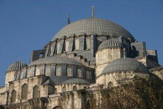 Istanbul, mosquée Süleymaniye, extérieur (c) Yves Traynard 2006