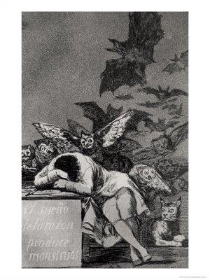 Le sommeil de la raison produit des monstres. Goya, Caprices n° 43