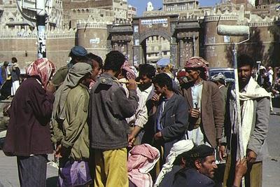 Sanaa, Journaliers (c) Yves Traynard 1999