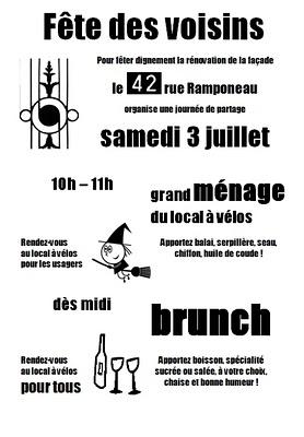Paris, Affiche fête des voisins 2010 (c) Yves Traynard 2010