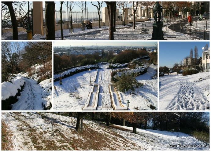 Parc de Belleville le 9 décembre 2010
