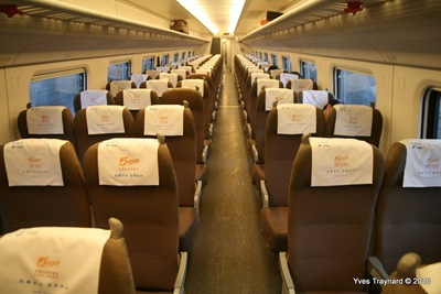 Entre Pékin et Baoding : Train CRH