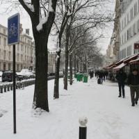 Belleville sous la neige