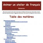 Animer un atelier de français - Repères