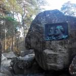 Plaque commémorative des peintres Rousseau et Millet